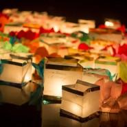 Фестиваль водных фонариков в Тюмени фотографии