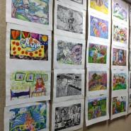 Выставка «Японские мотивы. Дети рисуют Японию» фотографии