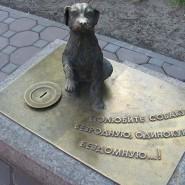 Памятник бездомной собаке фотографии