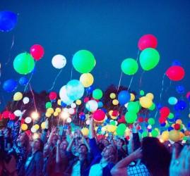 Массовый запуск светящихся шариков 2017